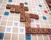 Scrabble Love 4x6 print