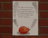 Original Art Illustration Miniature Story The Fox Remembers the Past