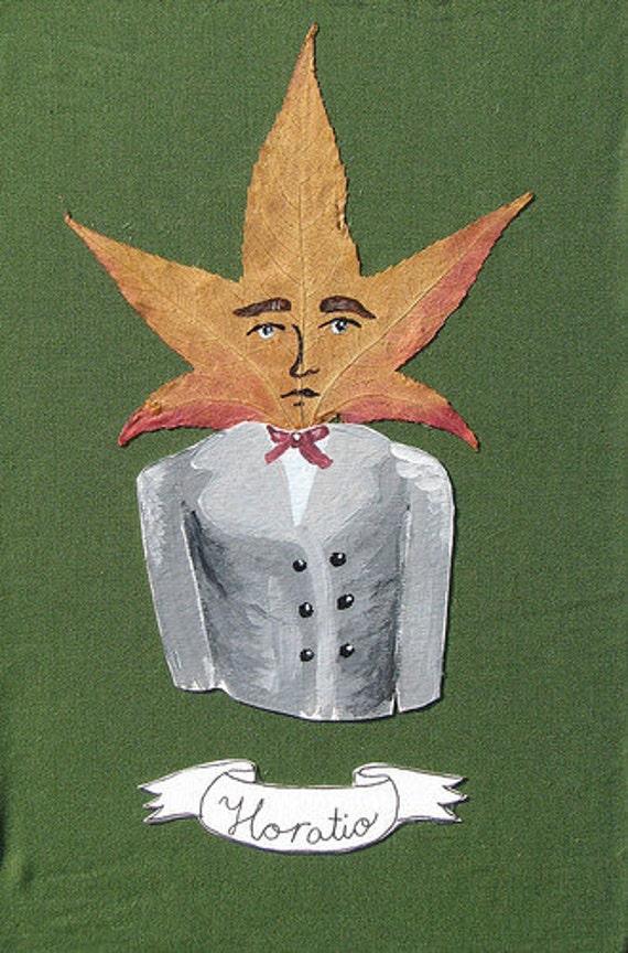 Horatio Leaf Person Mixed Media Original Art