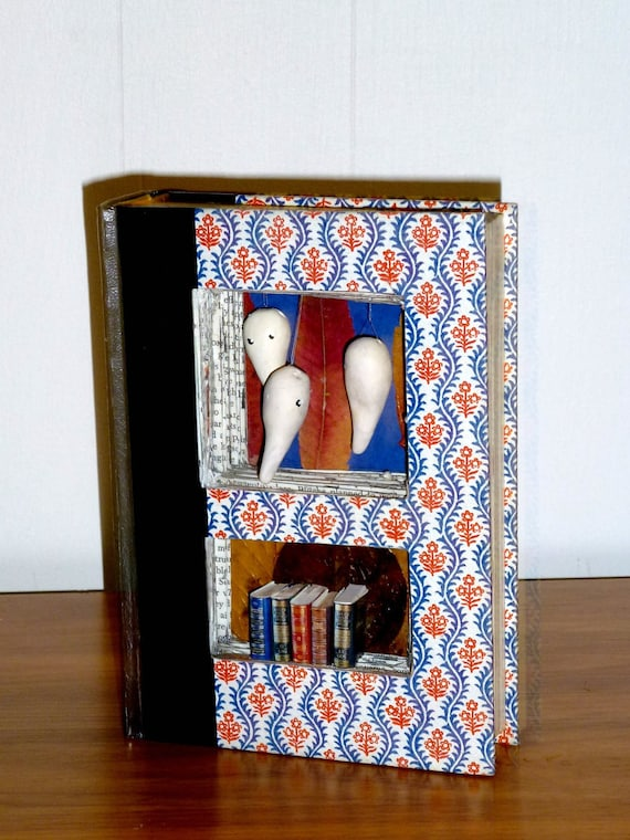 Ghost Story Mixed Media Sculpture Book Diorama