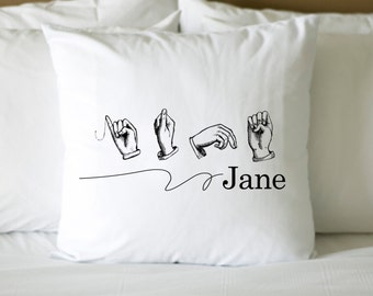 Sign language personalized name Digital File style 157