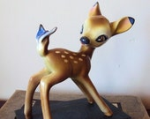 Vintage Bambie Deer Figurine with Butterfly