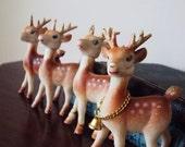 Vintage Christmas Deer Ornaments