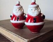 Vintage Christmas Santa Claus Salt and Pepper Shakers