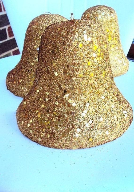 RESERVED LISTING.....Vintage Christmas Bell Decoration Set