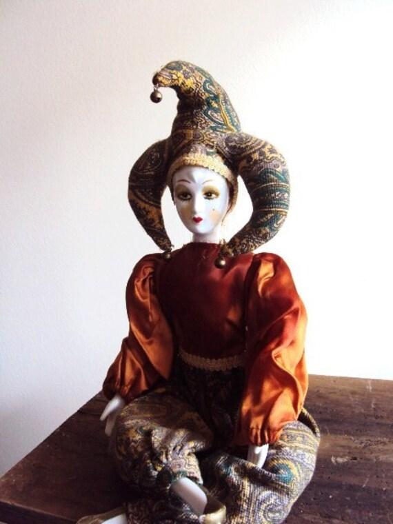 Vintage Porcelain Doll Beautiful Jester