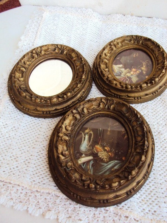 Vintage italian Mirror and Pictures .... Miniature