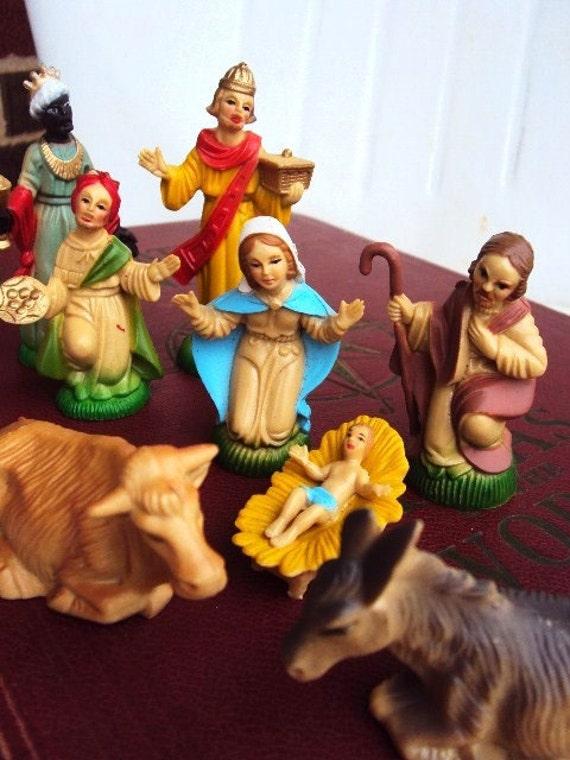 Vintage Christmas Nativity Manger Scene