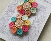 Colorful Button Ear Stud