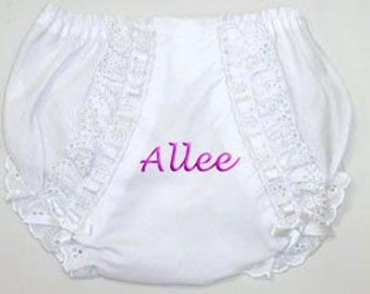 Embroidered Personalized Fancy Pants Diaper Covers