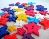 Star Buttons Wholesale Colourful Mix 500g approx 600 Buttons
