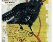 Arise Bird - 12x18 Art Journal Print