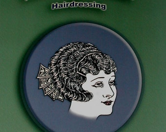 20s Flapper Hair Fingerwave styles Up-dos Wedding, Downton Abbey, Gatsby 1920s