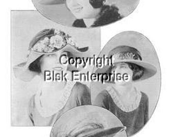 20s Millinery Course of Hat Making Lessons Design 1920s Flapper Downton Abbey, Gatsby, Miss Fisher,