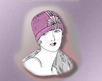 1920s Flapper Ribbon Cloche Hat PDF Instructional Pattern