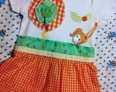 Sweet Jessy Short Sleeve Onesie/ Baby Dress - Available in size 9-12 months only