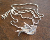 Silver Blue Jay Necklace