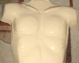 Vintage Wall Hanging Male Torso Mannequin Great Display