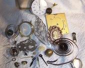 Steampunk Destash 34 pieces gears watch hands stopwatch vintage and new