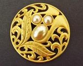 Vintage Brooch Pearls Costume Jewelry Wedding Brooch Accessories Bride Bridal Costume Jewelry