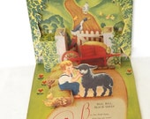 Vintage Antique Pop Up Story Book Card 3D Baa Baa Black Sheep Geraldine Clyne Fairy Tale Nursery Rhyme - VintageAndVictorian