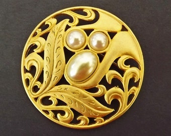 Vintage Brooch Pearls Costume Jewelry Wedding Brooch Accessories Bride Bridal Costume Jewelry