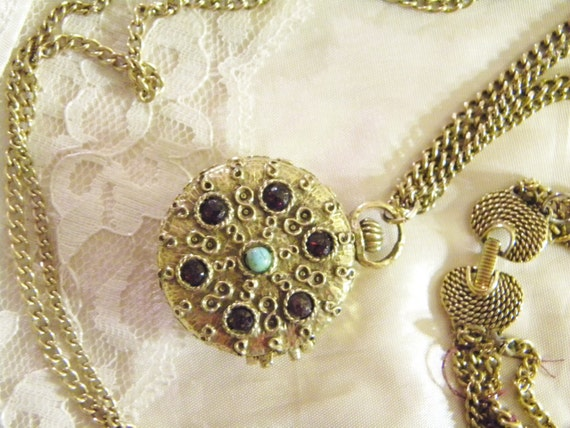 GOLDETTE - Vintage Necklace Locket - Pocket Watch Locket - Mothers Day Gift