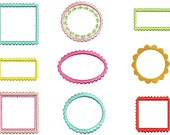 Instant download Machine embroidery design borders / frames for 4x4 and 5x7 hoop