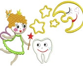 Instant download Machine embroidery design the tooth fairy 5x7 hoop