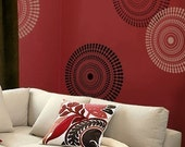 Wall Stencil Funky Wheel MED - Reusable Stencils for DIY Decor - Better than decals