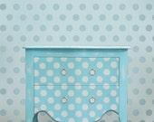 Wall stencil Polka Dot Allover SM - Easy wall decor for Nurseries, Kids Rooms