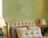 Damask Stencil Katie's Brocade MED - reusable stencils for walls, fabrics and furniture