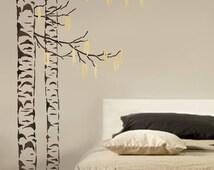 Large Tree Stencil Beautiful Birches - Reusable Stencils for Walls - Wall stencils for DIY home decor - Tree stencil