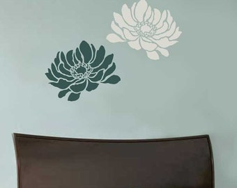Anemone Grande Flower Stencil - Small Size - Reusable Stencils for Walls - Better than Decals! - Easy DIY - Stencils for Home Décor