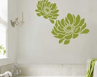 Anemone Grande Flower Stencil - Large Size - Reusable Stencils for Walls - Better than Decals! - Easy DIY - Stencils for Home Décor