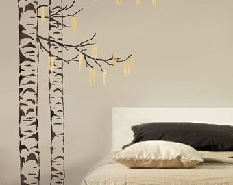 Tree stencil etsy for Large tree template for wall