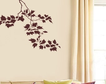 Wall Stencil Sycamore Weeping Branch - Reusable stencils for easy home decor
