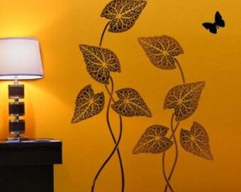 Large Stencil Floral Filigree Reusable by CuttingEdgeStencils