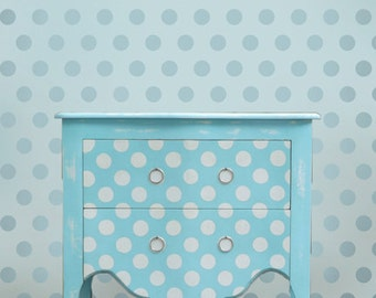 Wall stencil Polka Dot Allover LG - Easy stencil decor for Nurseries, Kids Rooms