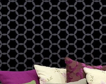 Wall Stencil Orient - Reusable stencils for walls - great for DIY decor