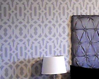 Allover Stencil Trellis - Reusable stencil for wall decor - DIY