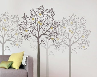 Large Fruit Tree Stencil - Reusable Wall Stencils for DIY Decor