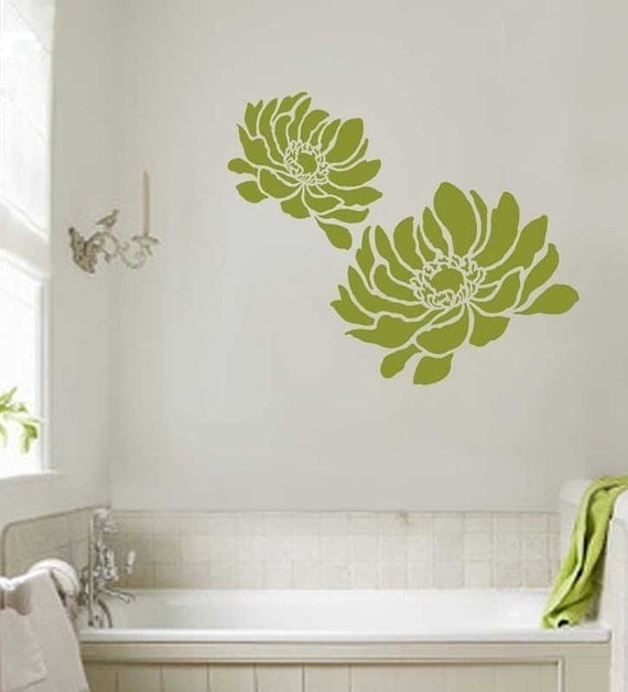 anemone grande flower stencil large size reusable stencils