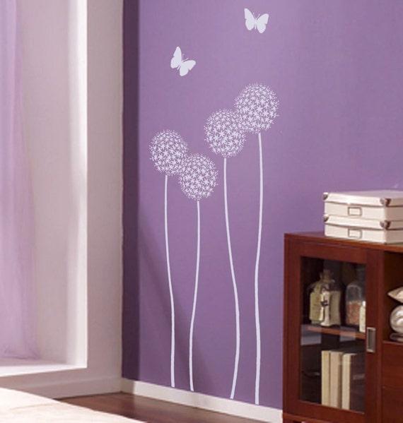 Allium Twins Flower Stencil - Reusable Stencils for Walls - Easy DIY Wall Décor - DIY Wall Design