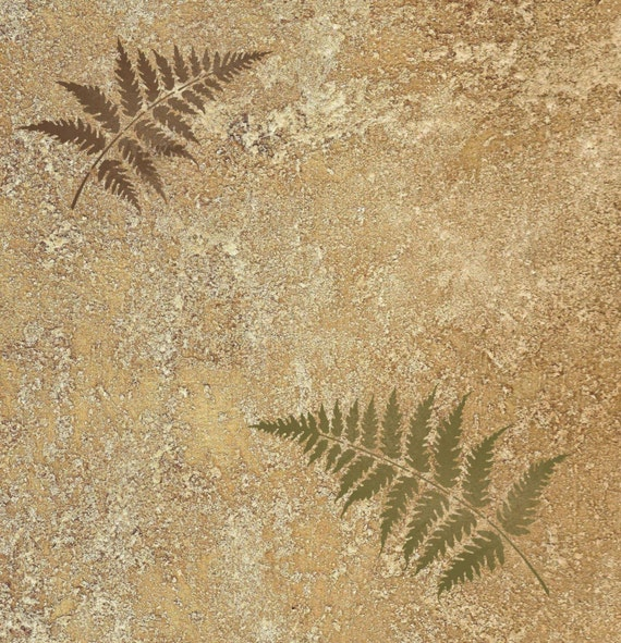 Wall stencils Fern Leaves 2pc SM - Reusable stencils for crafts, furniture, fabrics and walls