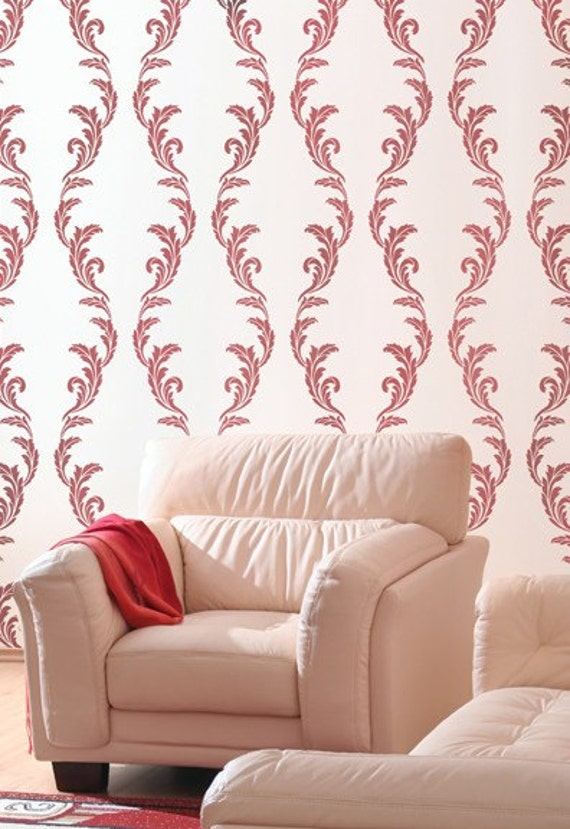 Acanthus Allover Stencil - DIY Home Décor - Reusable Stencils for Walls - Easy Home DIY - Easy DIY Décor