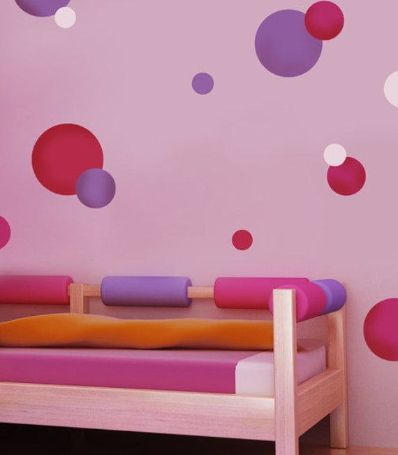 Reusable Stencils Polka Dots 3 pc kit - Easy wall decor for Nurseries, Kids Rooms