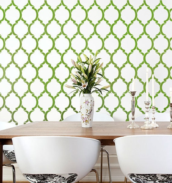 Wallpaper Wall Stencils : Wall stencil moroccan dream reusable stencils instead of