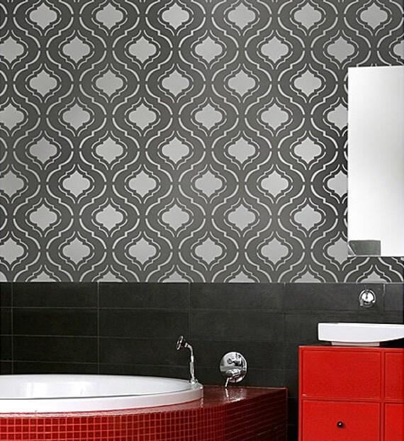Wall Stencil Moroc-n-Roll - Beautiful trendy moroccan stencils for DIY wall decor