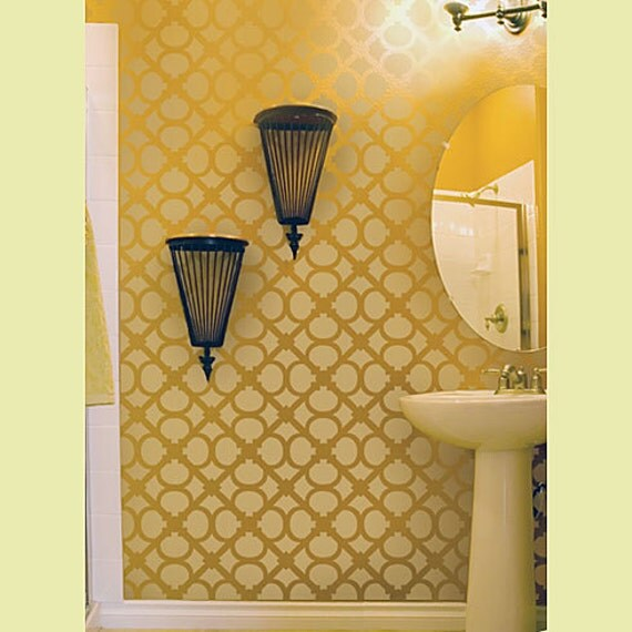 Wall Stencil Hand Forged size SM - Reusable stencils just like wallpaper